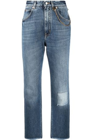 Givenchy Damen High Waisted - Mid-rise cropped jeans