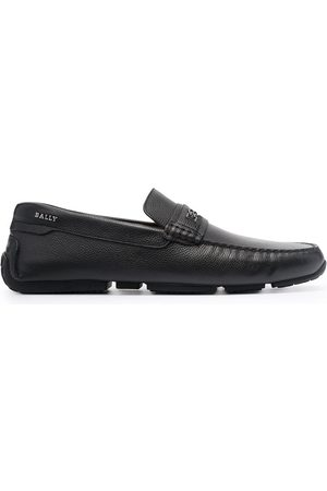 Bally Pablon pebbled leather loafers