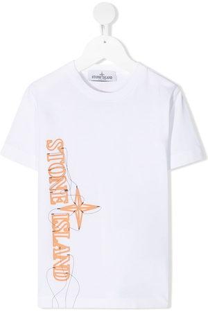 Stone Island Jungen Kurze Ärmel - Logo-print short-sleeve T-shirt