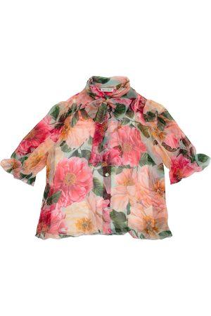 Dolce & Gabbana Bedruckte Bluse aus Seiden-Chiffon