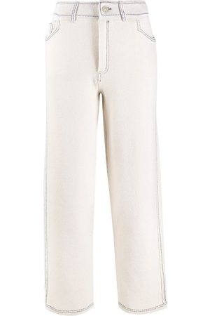 Barrie Contrast-stitch knitted trousers