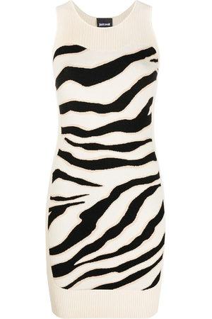 Roberto Cavalli Damen Freizeitkleider - Sleeveless animal-print dress