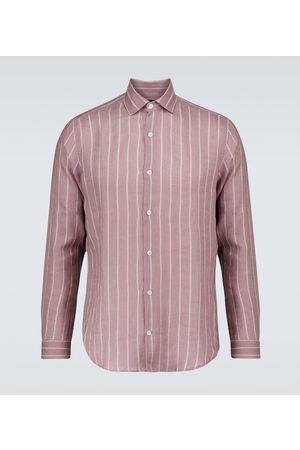 Frescobol Carioca Gestreiftes Hemd Thomas aus Leinen