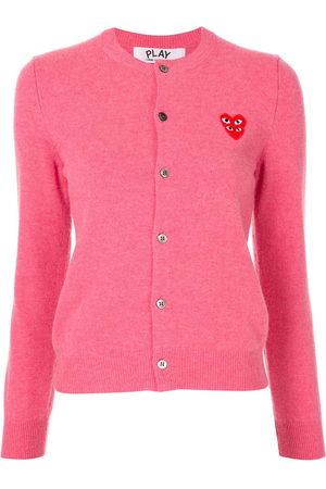 Comme des Garçons Damen Strickjacken - Logo-embellished cardigan