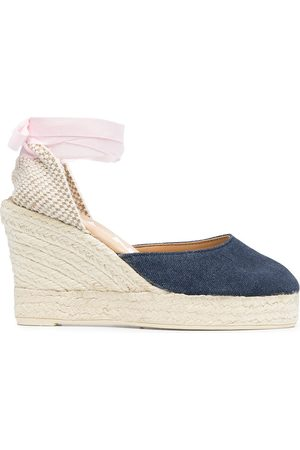 MANEBI Lace-up espadrille wedges