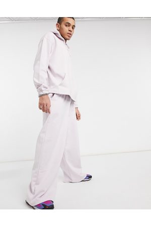 ASOS Co-ord oversized wide leg joggers in lilac-Purple