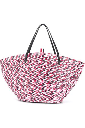 Thom Browne RWB braided tote bag