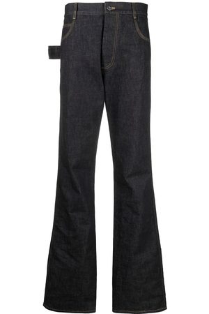 Bottega Veneta Damen Straight - Contrast-stitch high-rise jeans