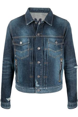 Balmain Herren Jeansjacken - Distressed-effect denim jacket