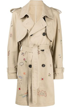 Dsquared2 Logo-embroidered trench coat