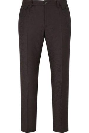 Dolce & Gabbana Herren Hosen & Jeans - Jacquard-pattern cropped trousers