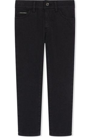 Dolce & Gabbana Jungen Jeans - Painted stripe skinny jeans