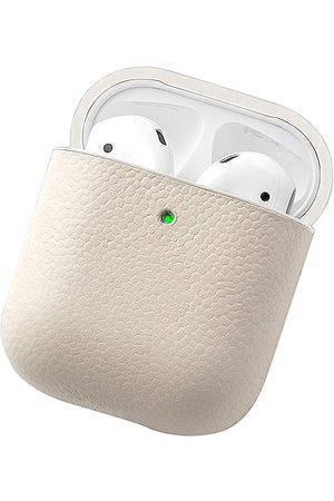 Courant Leather Airpod Case in - Cream. Size all.
