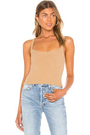 Song of Style Iris Tank in - Tan. Size L (also in M, S, XS).