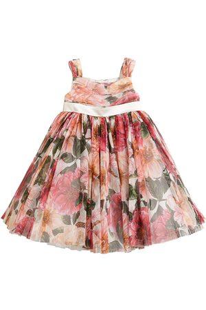 Dolce & Gabbana Tüllkleid Mit Blumendruck