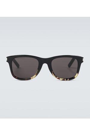 Saint Laurent Schildpatt-Sonnenbrille aus Acetat