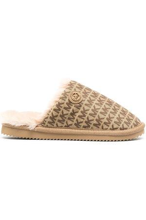 Michael Kors Janis logo jacquard slippers