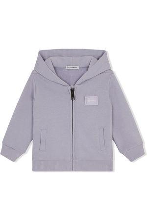 Dolce & Gabbana Logo-patch long-sleeve hoodie