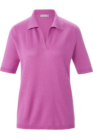 include Damen Strickpullover - Polo-Pullover 1/2-Arm pink