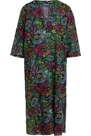 Vilebrequin Damen Blusen - Tunika Evening Birds Mit Leinen