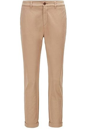 HUGO BOSS Regular-Fit Chino aus elastischer Bio-Baumwolle