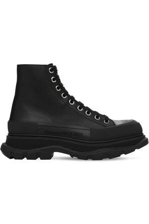 Alexander McQueen Herren Stiefel - Sneakerstiefel Aus Leder