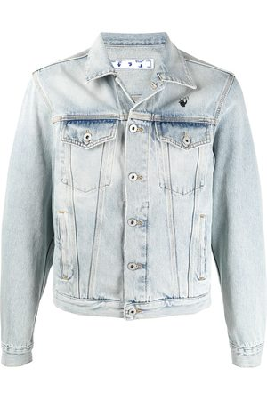 Off-White Herren Jeansjacken - Bleach-wash denim jacket
