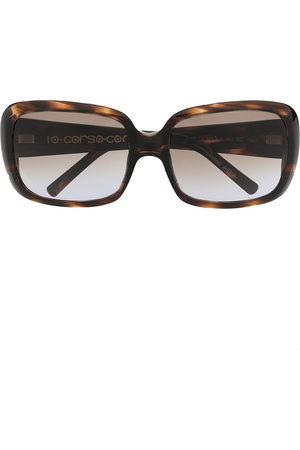 10 CORSO COMO Tortoiseshell oversize-frame sunglasses