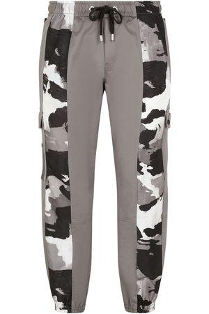 Dolce & Gabbana Herren Cargohosen - Camouflage-panelled cargo trousers
