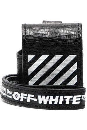 OFF-WHITE DIAG SAFFIANO AIRPODS CASE WHITE