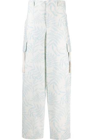 Jacquemus Leaf print cargo trousers