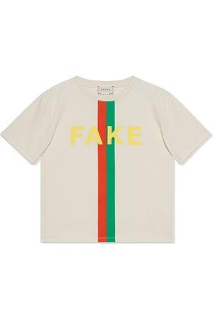 Gucci Slogan-print cotton T-shirt