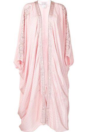 Camilla Damen Jacken - Crystal-embellished draped-design jacket