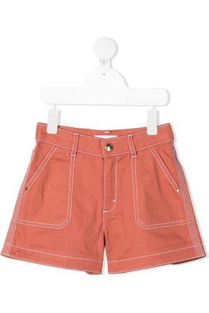 Chloé Contrast stitching detail shorts