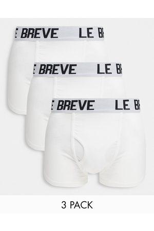 Le Breve 3 pack trunks in white