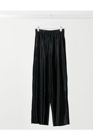 ASOS Culotte trouser in velour in black