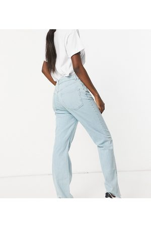 ASOS ASOS DESIGN Tall high rise stretch 'effortless' crop kick flare jeans in pretty lightwash-Blue