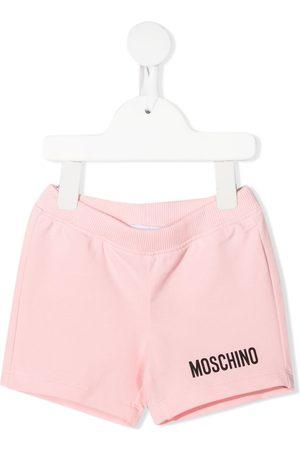 Moschino Logo-embellished jersey shorts