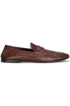 Dolce & Gabbana Herren Halbschuhe - Logo-embossed leather slippers