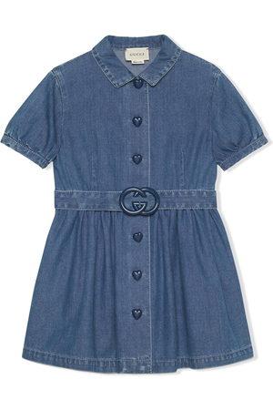 Gucci Kids Interlocking G short denim dress