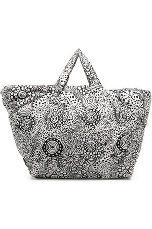 10 CORSO COMO Doodle-graphic print padded tote