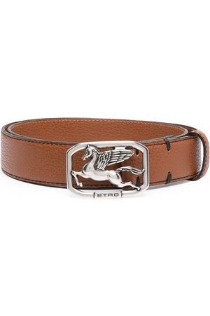 Etro Pegasus buckle belt