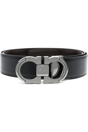 Salvatore Ferragamo Brushed calf leather Gancini belt