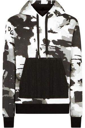 Dolce & Gabbana Camouflage-pattern V-neck hoodie