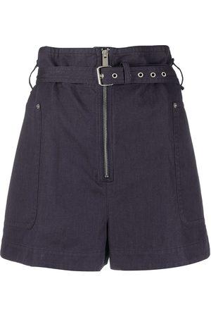 Isabel Marant Paperbag-waist belted shorts
