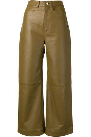 PROENZA SCHOULER WHITE LABEL Wide-leg leather trousers