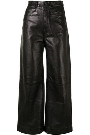 PROENZA SCHOULER WHITE LABEL Nappa-leather culotte trousers