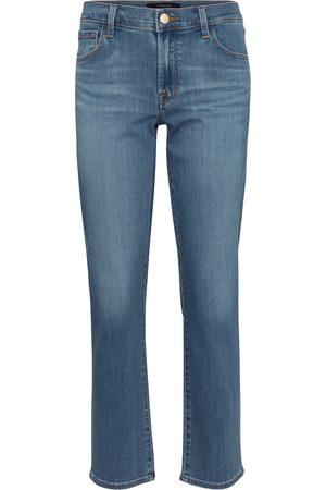 J Brand Mid-Rise Straight Jeans Adele