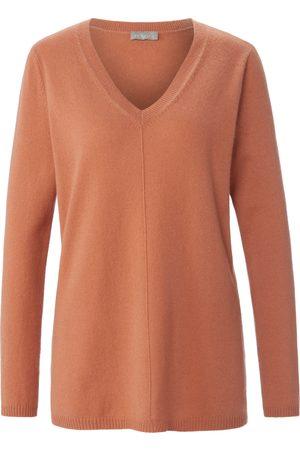 include Damen Strickpullover - V-Pullover aus 100% Premium- Kaschmir