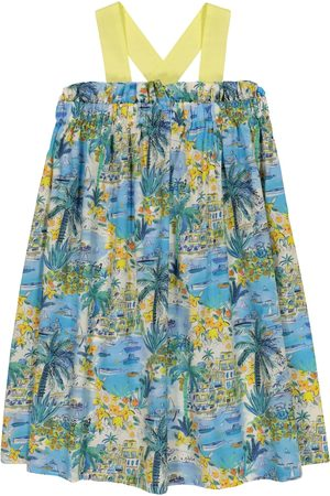Il gufo Bedrucktes Kleid aus Baumwolle